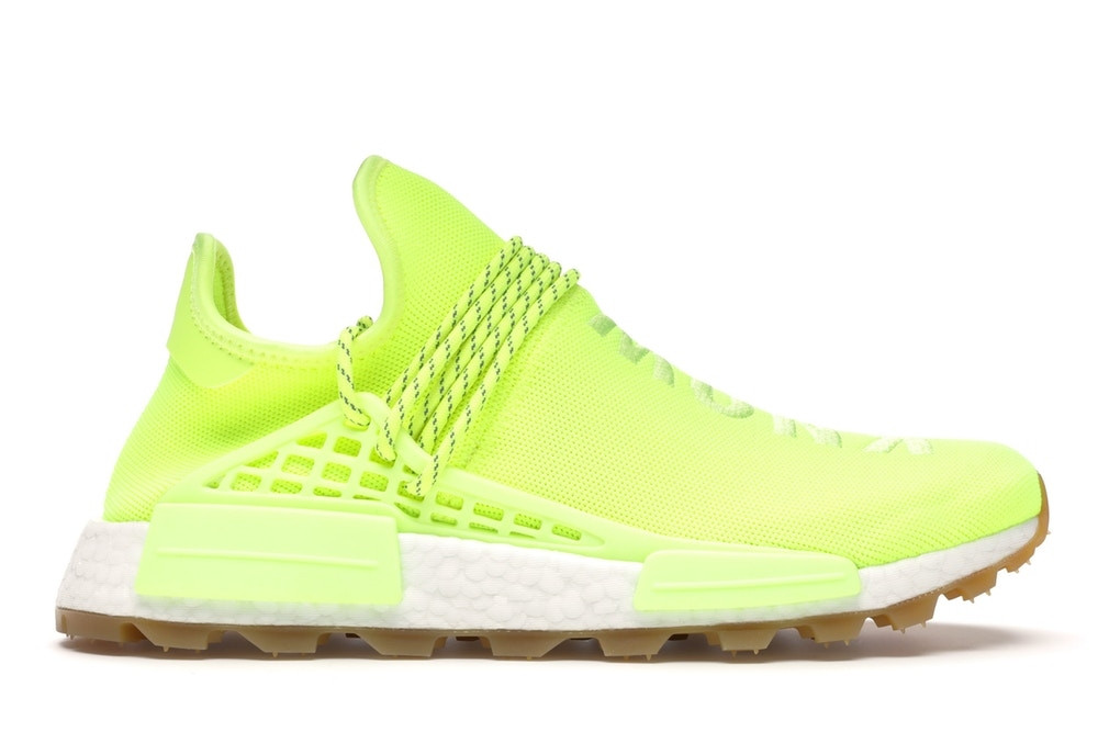 "adidas NMD Hu Trail Pharrell Now Is Her Time ""Solar Yellow"""