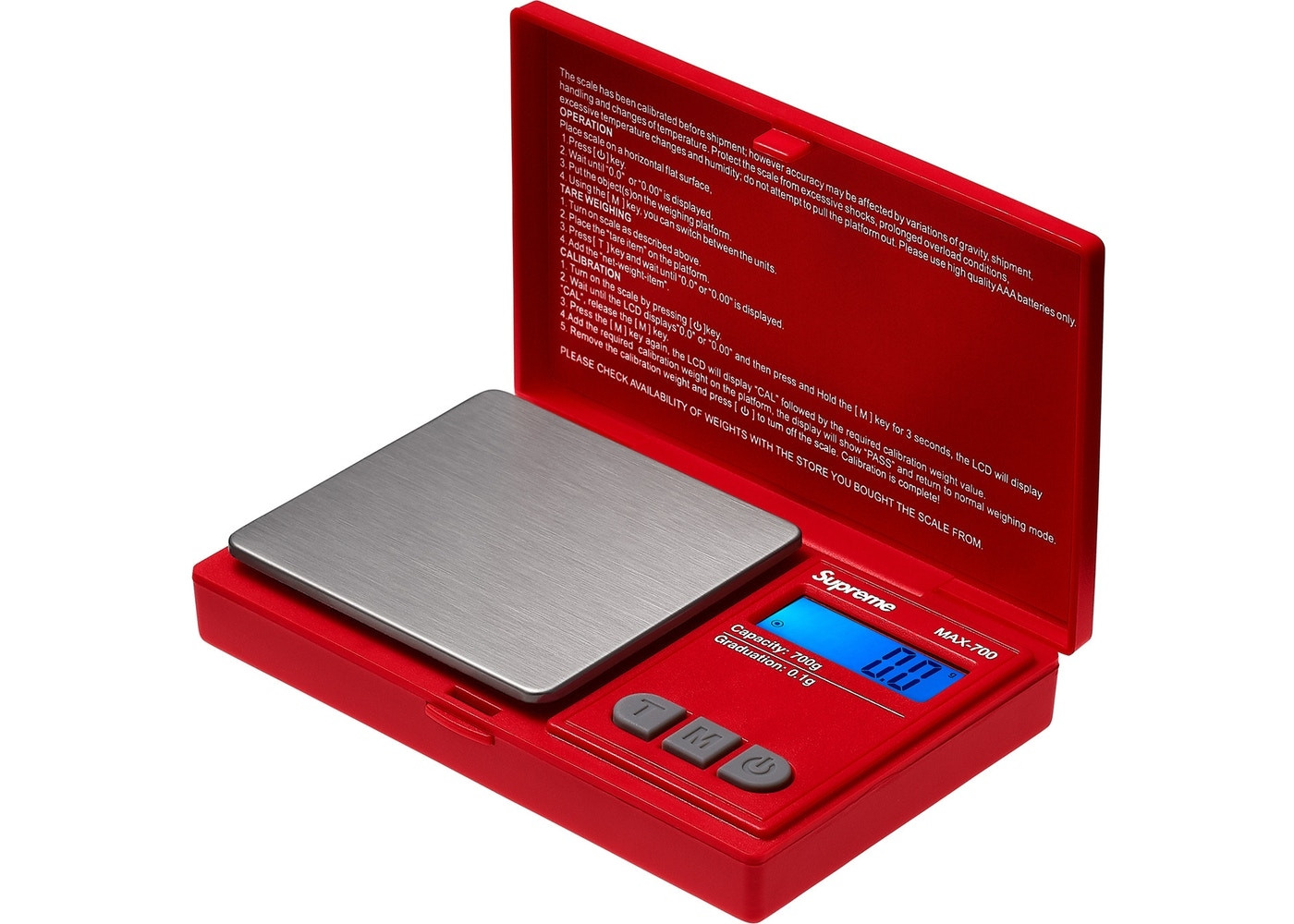 """AWS MAX-700 Digital Scale """"Red"""""""