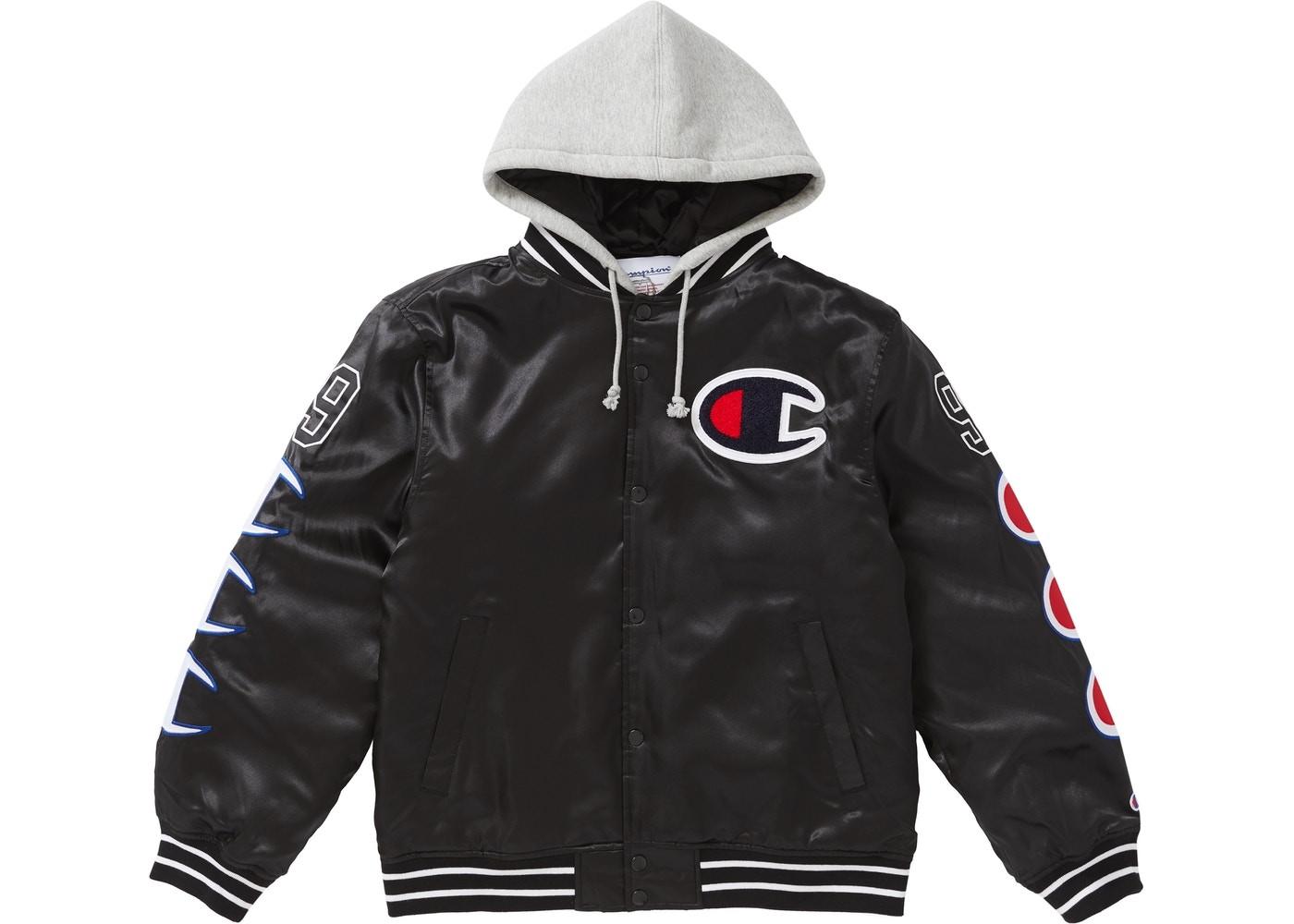 dae583c4af8039 Supreme Champion Hooded Satin Varsity Jacket
