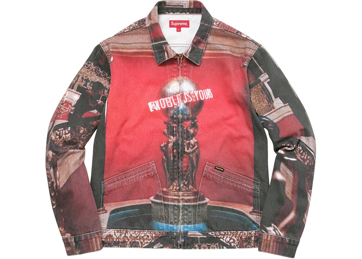 bc7a85fcc51e7f Supreme Scarface the World Is Yours Denim Jacket