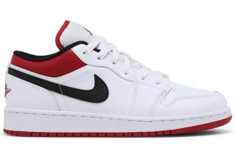 Air Jordan 1 Low GS 'White Gym Red'
