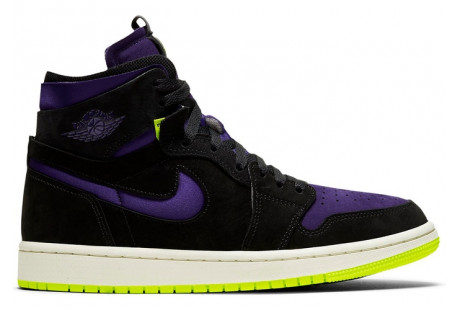 Jordan 1 High Zoom Air CMFT Black Court Purple Lemon Venom (W)