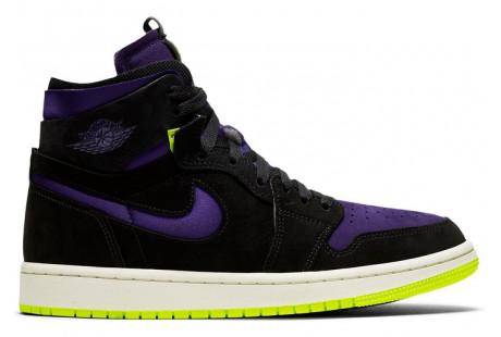 Jordan 1 High Zoom Air CMFT Black Court Purple Lemon Venom (W)