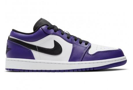 "Jordan 1 Low Court ""Purple White"""