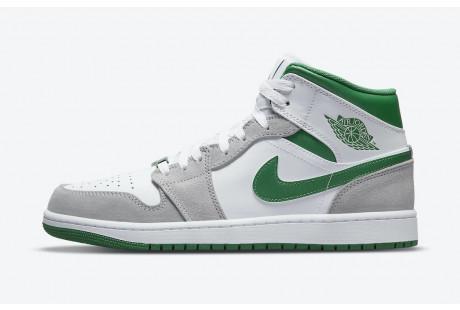 Jordan 1 Mid Grey Green