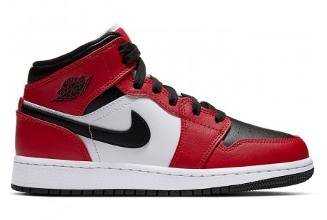 "Jordan 1 Mid Chicago ""Black Toe"""