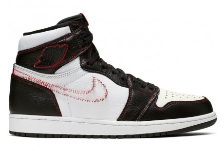 "Jordan 1 Retro High Defiant ""White Black Gym Red"""