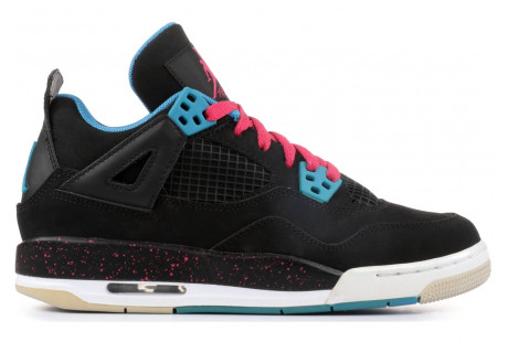 "Jordan 4 Retro ""Black Vivid Pink Dynamic Blue"""