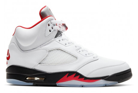 "Jordan 5 Retro ""Fire Red Silver Tongue"" 2020"