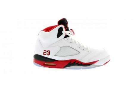 "Jordan 5 Retro ""Fire Red Black Tongue"""