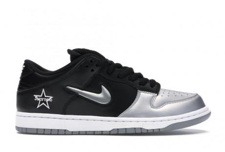 """Nike SB Dunk Low Supreme Jewel Swoosh """"Silver"""""""
