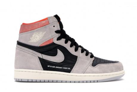 "Jordan 1 Retro High ""Neutral Grey Hyper Crimson"""