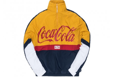 "Kith x Coca-Cola Quarter Zip Nylon Windbreaker ""Navy"""