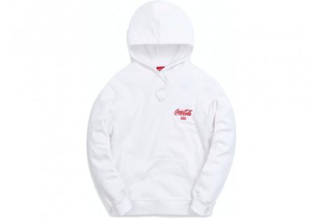 "Kith x Coca-Cola Ribbon Logo Hoodie ""White"""