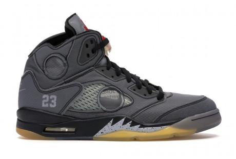 "Jordan 5 Retro Off-White ""Black"""