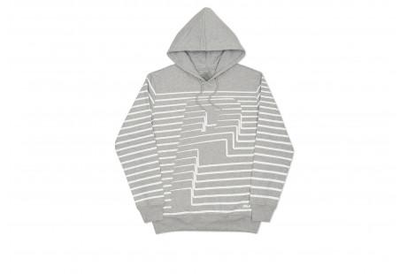 "Palace Striper Hoodie ""Grey"""