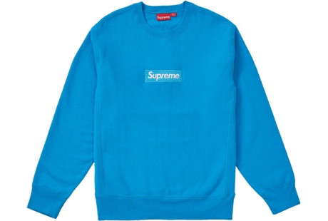 "Supreme Box Logo Crewneck (FW18) ""Bright Royal"""