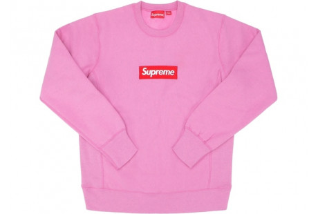 "Supreme Box Logo Crewneck (FW15) ""Heather Pink"""
