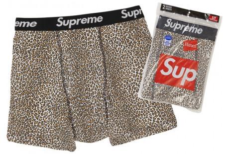 """Supreme Hanes Leopard Boxer Briefs 2 Pack """"Leopard"""""""