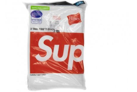 "Supreme Hanes Tagless Tees ""White"""