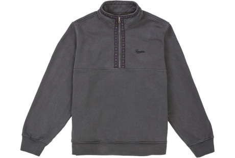 "Supreme Overdyed Half Zip Sweatshirt ""Black"""