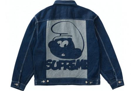 """Supreme Smurfs Denim Trucker Jacket """"Blue"""""""