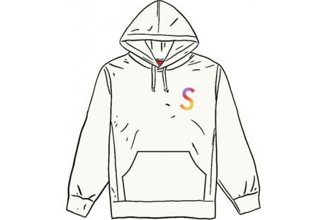 Supreme Swarovski S Logo Hooded Sweatshirt White