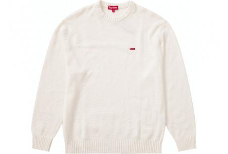 """Supreme Textured Small Box Sweater """"White"""""""