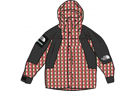 Supreme The North Face Studded Mountain Light Jacket Red