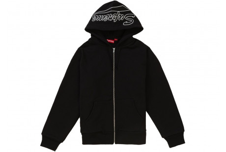 "Supreme Thermal Zip Up Sweatshirt ""Black"""