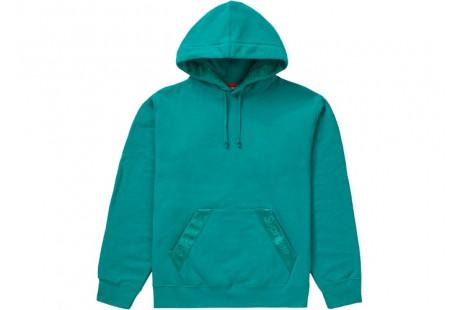 "Supreme Tonal Webbing Hooded Sweatshirt ""Dark Aqua"""
