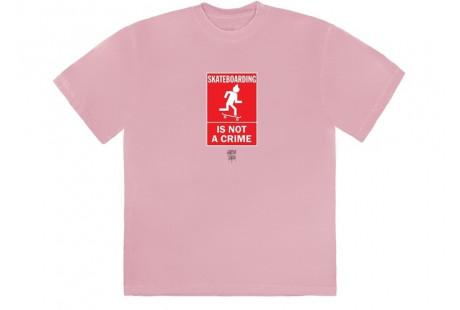 """Travis Scott Not A Crime T-Shirt I """"Pink"""""""